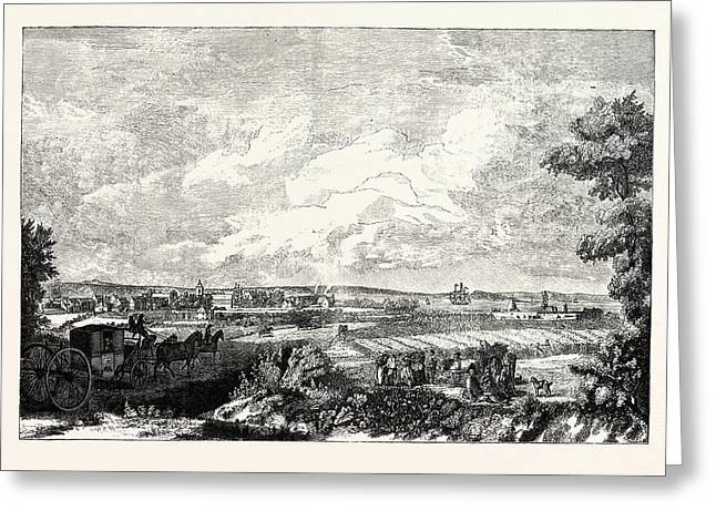 Edinburgh View Of Leith From The Eastern Road 1751 Greeting Card