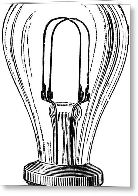Edison Lamp, 19th Century Greeting Card by Granger