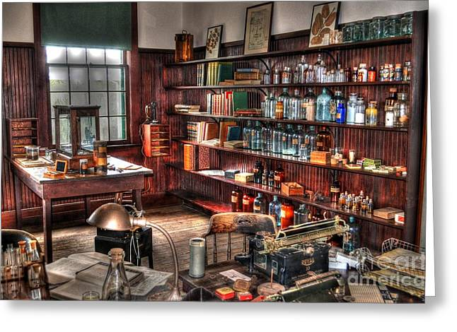 Edison's Lab Greeting Card by Timothy Lowry