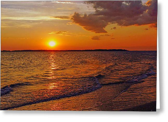 Edisto Island Sc Sunset Greeting Card