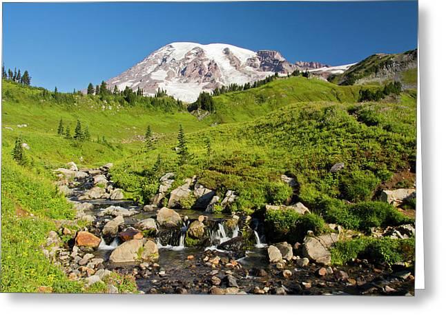 Edith Creek, Mount Rainier Greeting Card