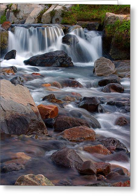 Greeting Card featuring the photograph Edith Creek Mt Rainier National Park by Bob Noble Photography