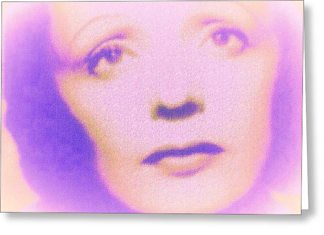 Edith In Violet Greeting Card by John Madison