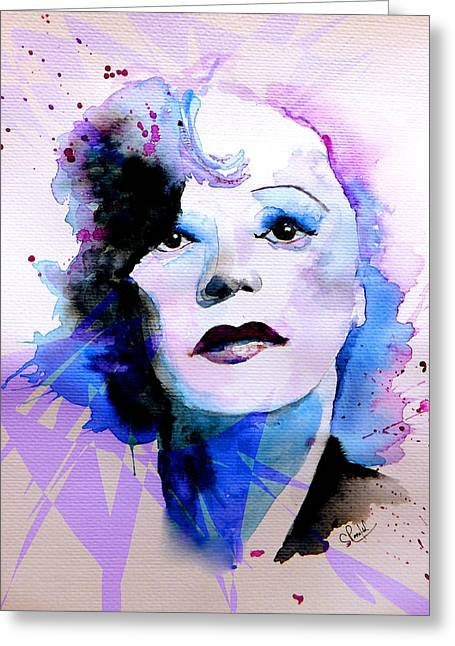 Edith Piaf Greeting Card by Steven Ponsford