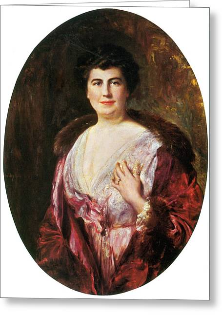 Edith Wilson, First Lady Greeting Card by Science Source