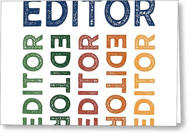 Editor Cute Colorful Greeting Card