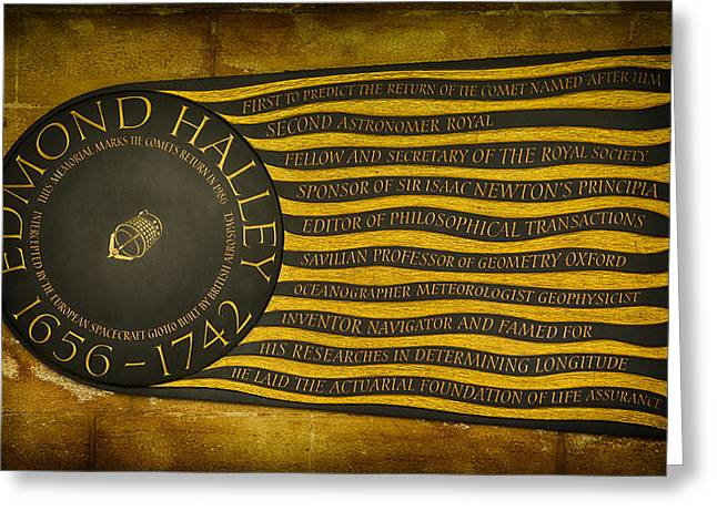 Edmond Halley Memorial Greeting Card