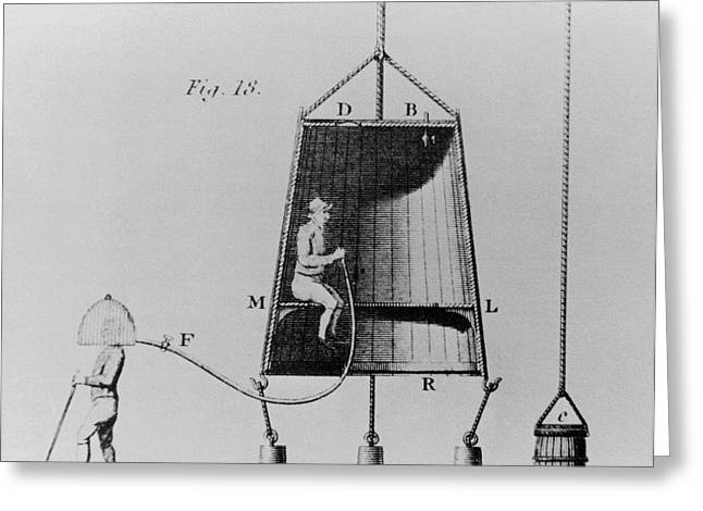Edmond Halley's Diving Bell Of 1716 Greeting Card by Science Photo Library