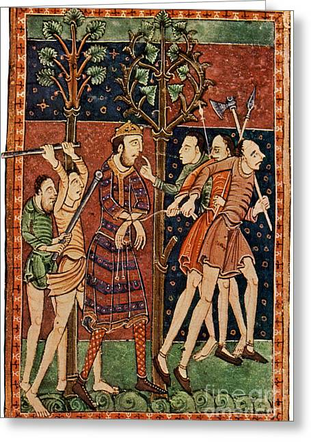 Edmund The Martyr, King Of East Anglia Greeting Card
