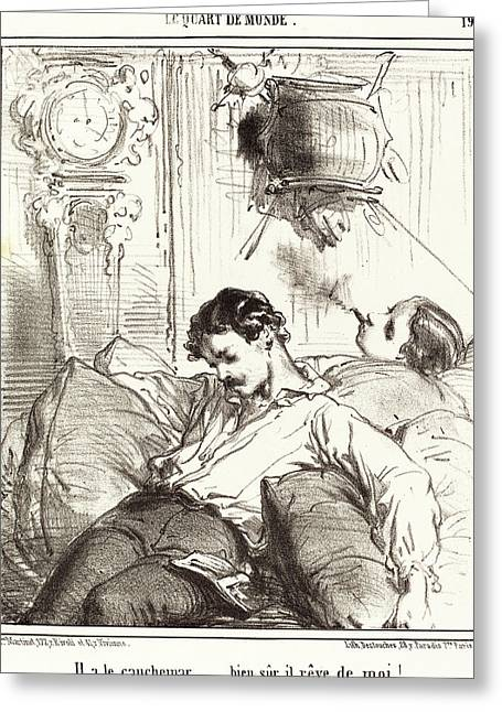 Edouard De Beaumont, French 1821-1888 Greeting Card