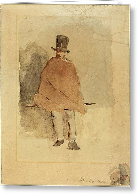 Edouard Manet French, 1832 - 1883, The Man In The Tall Hat Greeting Card