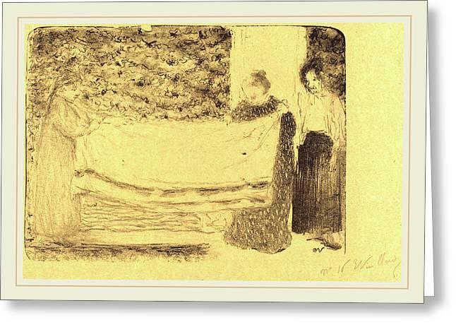 Edouard Vuillard French, 1868-1940, Folding The Linen Le Greeting Card