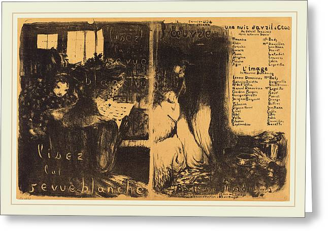 Edouard Vuillard French, 1868-1940, Lisez La Revue Blanche Greeting Card