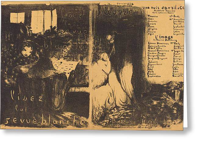 Edouard Vuillard French, 1868 - 1940, Lisez La Revue Greeting Card