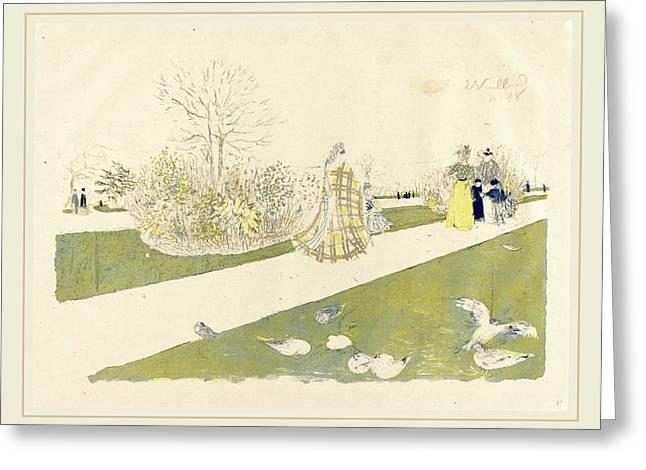 Edouard Vuillard French, 1868-1940, The Tuileries Garden Le Greeting Card