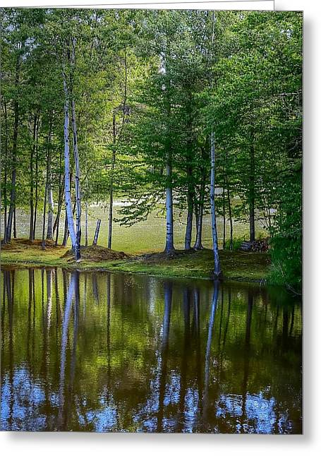 Edson Hill Reflections Greeting Card by John Nielsen