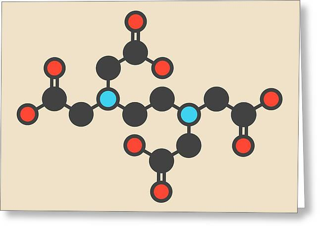 Edta Molecule Greeting Card