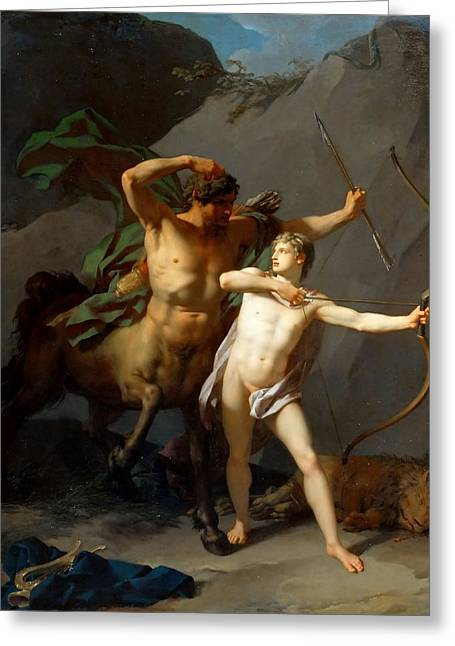 Education Of Achilles Greeting Card