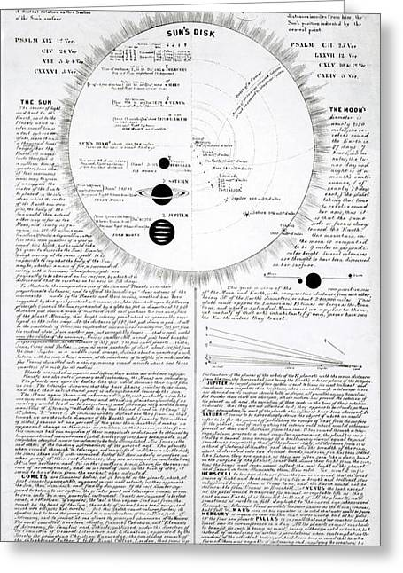 Educational Astronomical Chart Greeting Card by Royal Astronomical Society