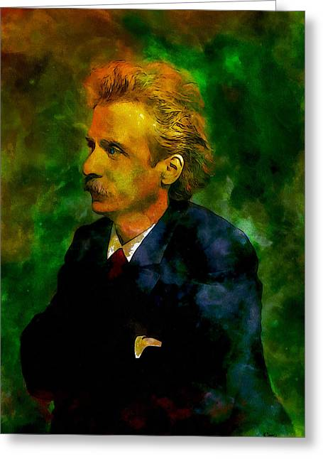 Edvard Grieg Greeting Card