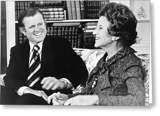 Edward And Rose Kennedy Greeting Card by Underwood Archives