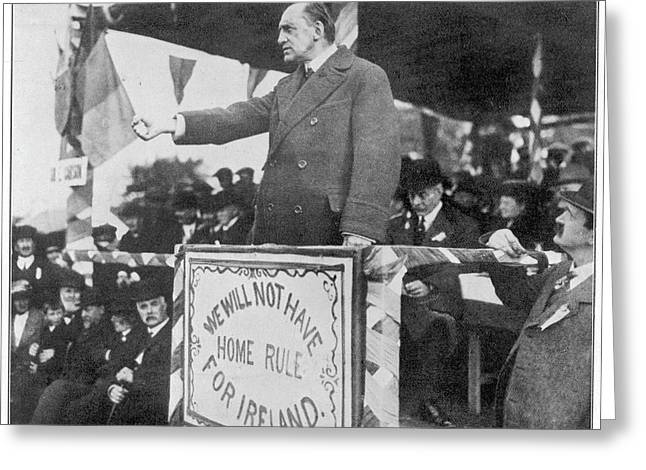 Edward Carson, Leader Of The  Irish Greeting Card by Mary Evans Picture Library