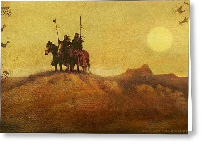 Edward Curtis Elements Combined2 Greeting Card by R christopher Vest