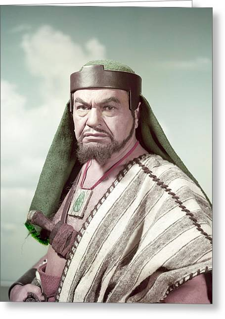 Edward G. Robinson In The Ten Commandments  Greeting Card by Silver Screen