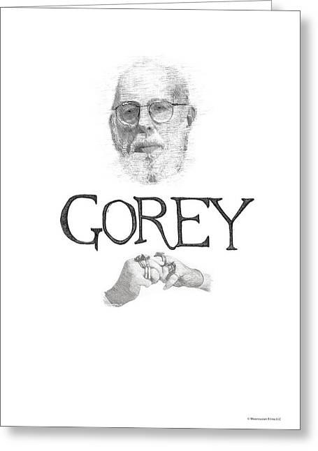 Edward Gorey Documentary Print Greeting Card by Christopher Seufert