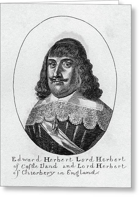 Edward Herbert (1583-1648) Greeting Card by Granger