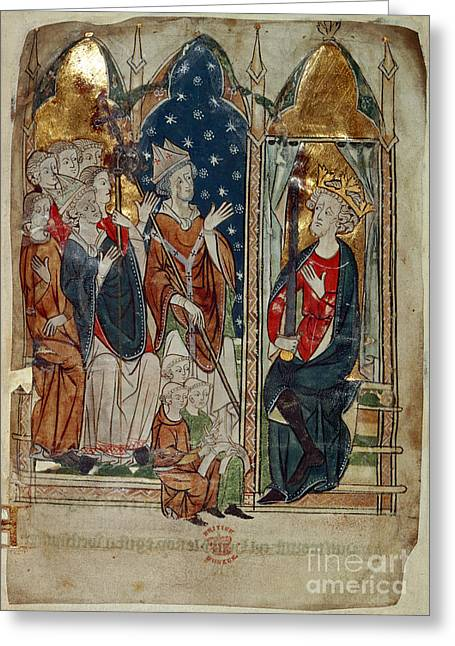 Edward I And His Court Greeting Card