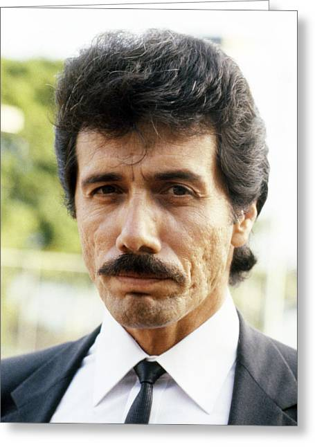 Edward James Olmos In Miami Vice  Greeting Card by Silver Screen