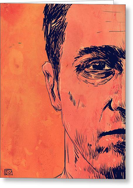 Edward Norton Fight Club Greeting Card by Giuseppe Cristiano