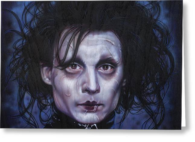 Edward Scissorhands Greeting Card by Tim  Scoggins