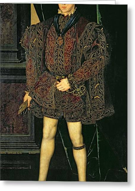 Edward Vi 1537-53 Greeting Card by Guillaume Scrots