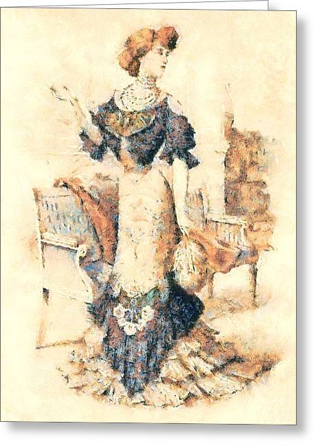 Edwardian Elegance Greeting Card