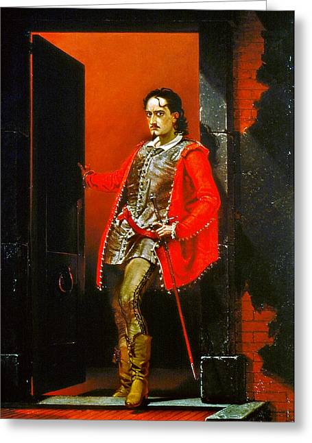 Edwin Booth Iago, 1863 Greeting Card by Granger