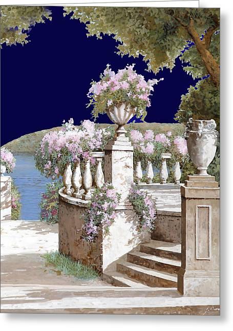 La Balaustra Di Notte Greeting Card by Guido Borelli