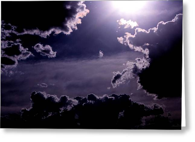 Eerie Afternoon Sky Greeting Card