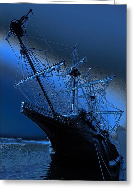 Eerie Light Over El Galeon Greeting Card
