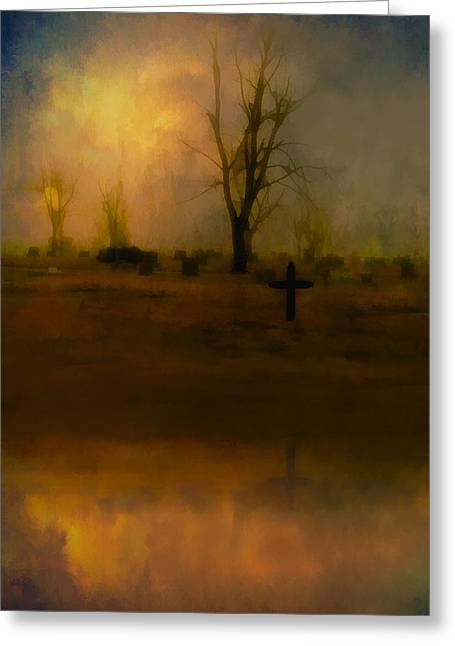 Eerie Reflection Greeting Card by Gothicrow Images