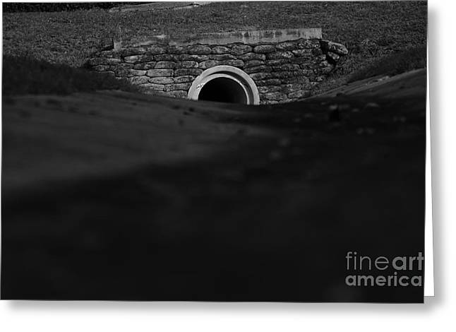 Eerie Tunnel Greeting Card