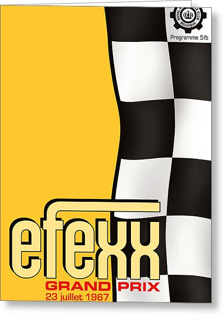 Efexx Grand Prix 1967 Greeting Card by Georgia Fowler