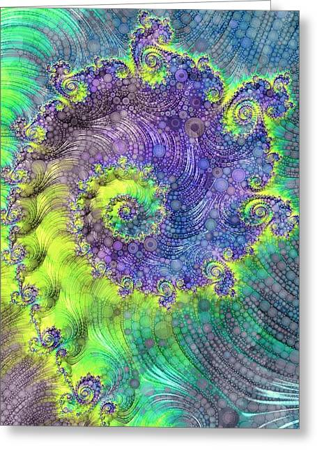 Effervescence Greeting Card by Susan Maxwell Schmidt