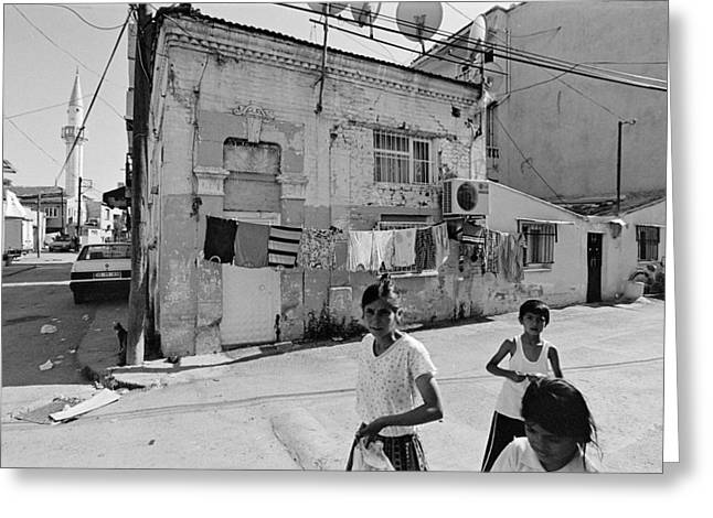 Ege Neighborhood In Izmir In Turkey Greeting Card by Ilker Goksen