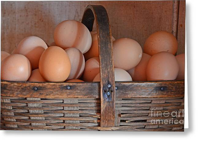 Egg Basket Greeting Card by Mary Carol Story
