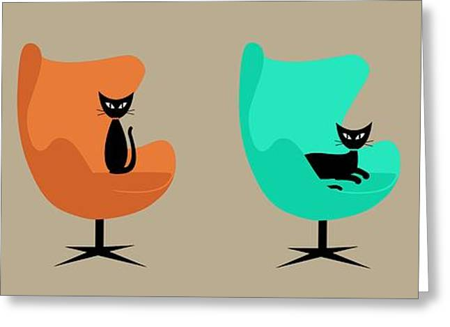 Egg Chairs Greeting Card