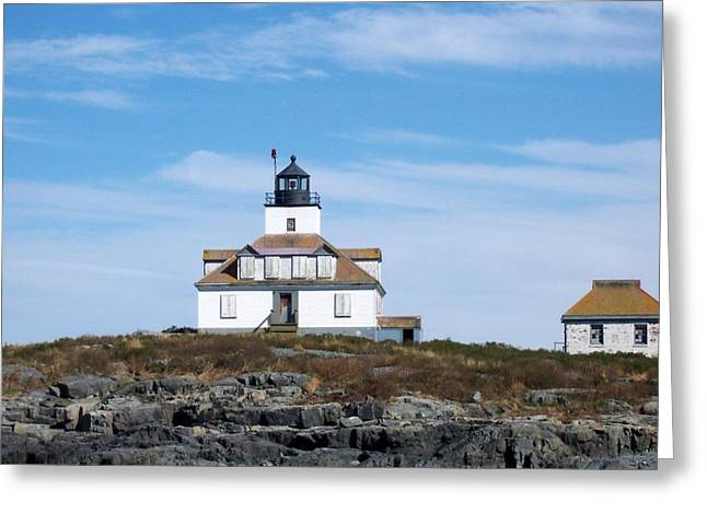 Egg Rock Lighthouse Greeting Card by Catherine Gagne