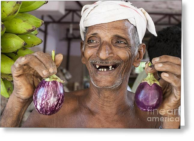 Eggplant Greeting Card by Sonny Marcyan