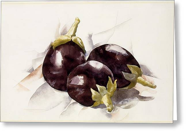 Eggplants Greeting Card by Charles Demuth